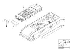 Single parts SA 631 armrest rear