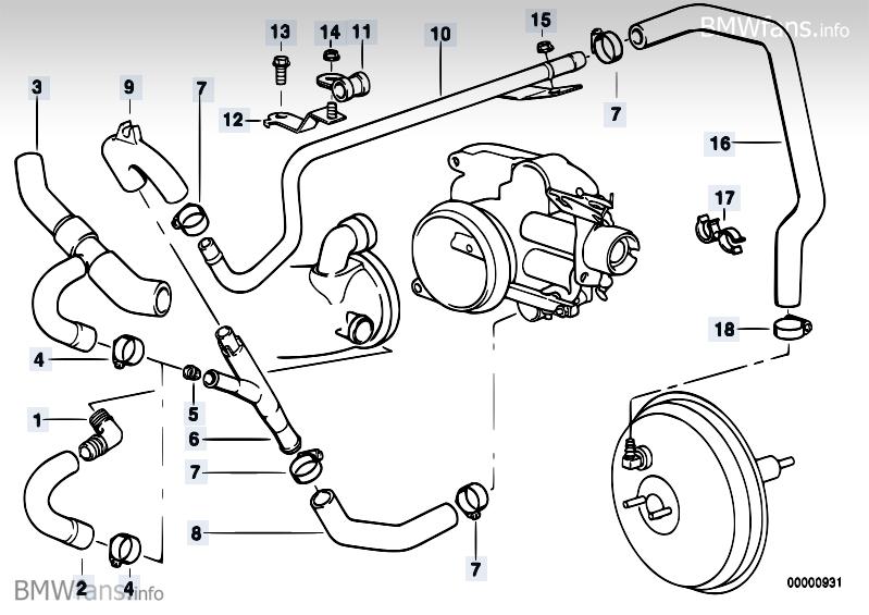 BMW E38 Club - маслоотделитель системы винтеляции картера