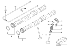 Valve timing gear  camshaft/valves